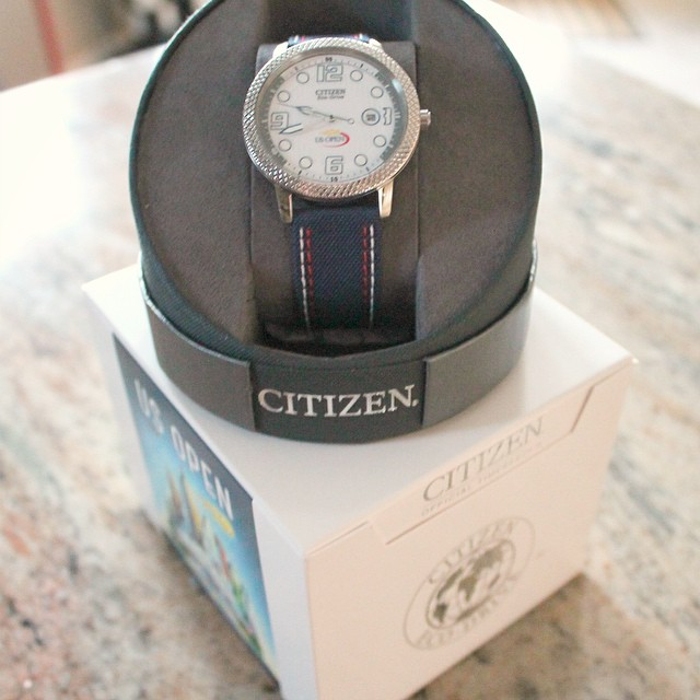 Thank you for the awesome Men's Tennis Watch @CitizenEcoDrive! Hubby loves the style and design! #CITIZENStyle #USOpen #MensWatch #TennisWatch @theitdad @mr.teh
