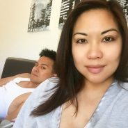 No makeup #selfie with my #photobomber hubby! The after effect…