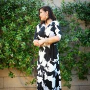 Long faux wrap #blackandwhite #floral print #dress from @NYandCompany adds…