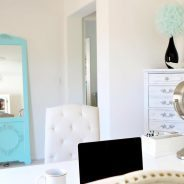 Heres another view of our shabby chic home office! Imhellip