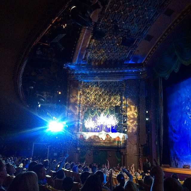 Had a blast watching the #Frozen Sing-A-Long at the El CapitAn Theater. There was snow falling, beach balls thrown around in the theater, a special appearance by Elsa and LOTS of singing. Even I couldn't hold back from belting out