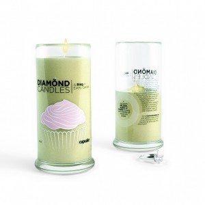 Diamond Candles Cupcake