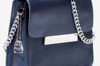 Glass Handbag Frankie Structured Blue Crossbody Bag
