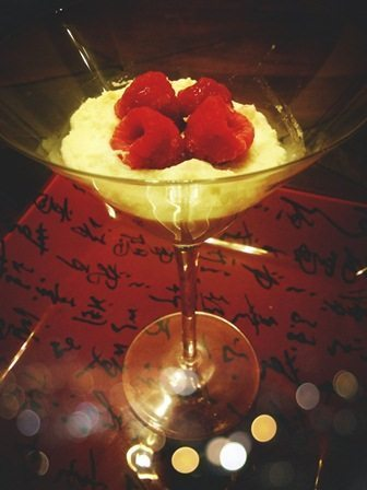 Vanilla Cream with Raspberries