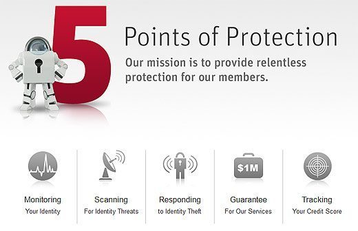LifeLock 5 Points of Protection