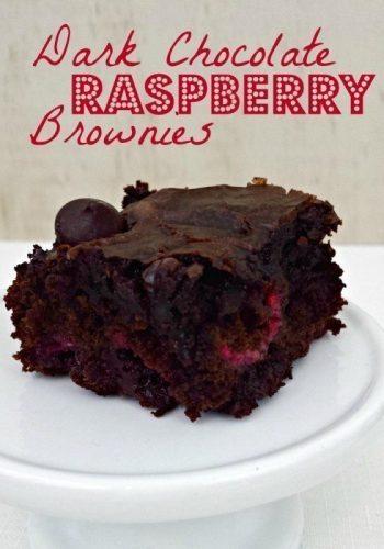Dark Choc Raspberry Brownies