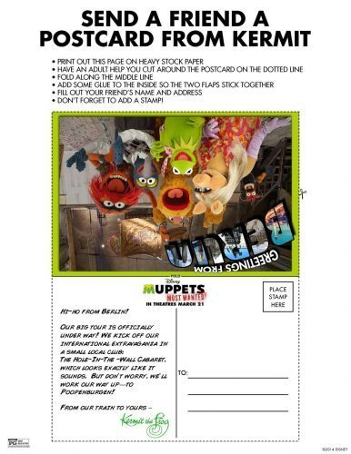Muppets Activity Sheet 4