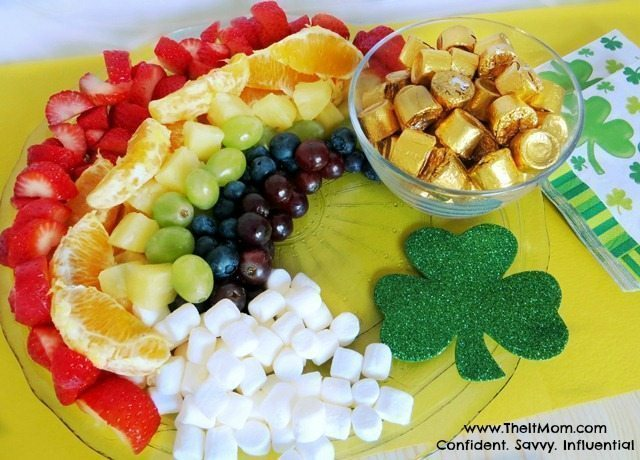 St. Patrick's Day Recipe – Rainbow Fruit Tray Recipe