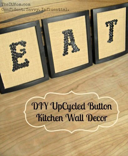 Wall Decor - UpCycled Button Wall Decor