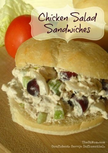 Chicken Salad Recipe - Chicken Sandwiches - TheItMom.com