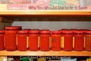 jars of tomato sauce on the shelf in an organic shop