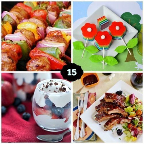 Outdoor Entertaining Recipes Collage