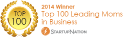 StartupNation Moms In Business Top 100 Badge 250x75
