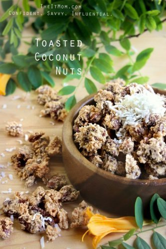 Toasted Coconut Nuts Recipe by Nicole @ www.Confectionalism.com