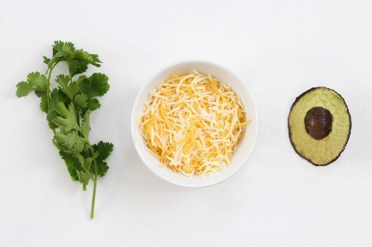 Cilantro Mexican cheese and Avocados