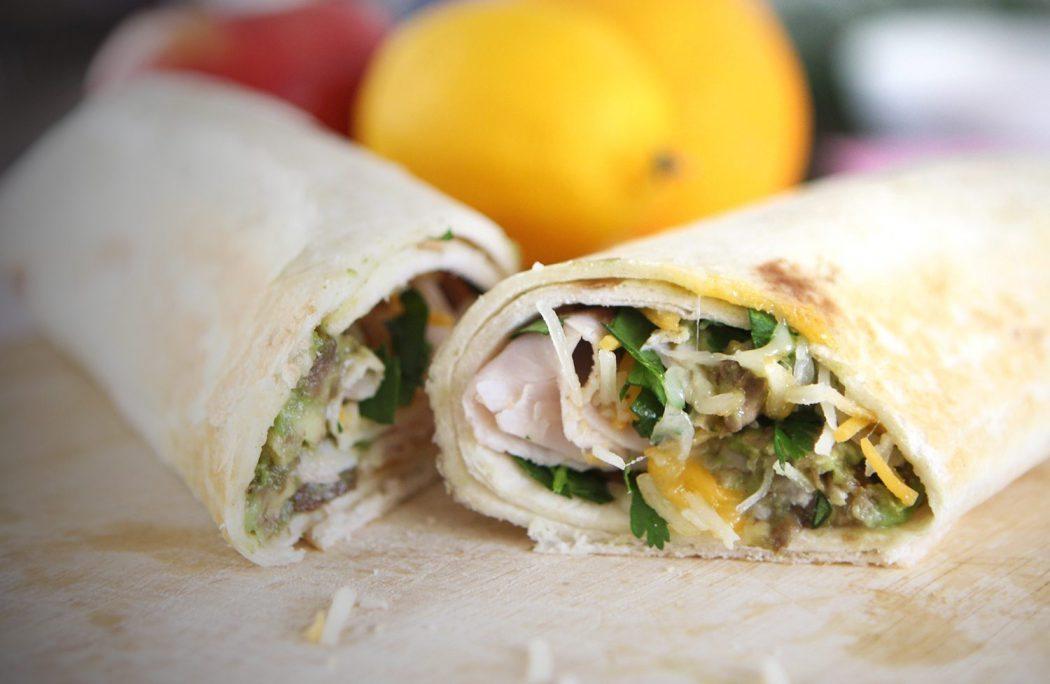 Turkey Avocado Burrito Wrap With Oscar Mayer Selects Natural