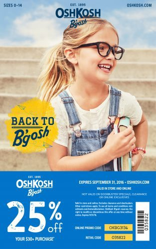 OshKosh B'Gosh Back to School Coupon