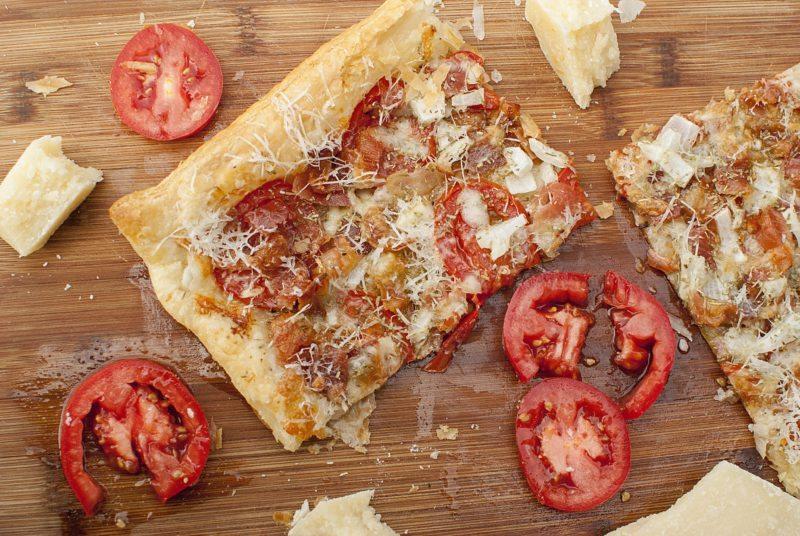 Bacon Tomato and Parmesan Tart Recipe | The It Mom