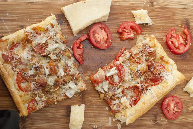 Bacon Tomato Parmesan Tart Recipe