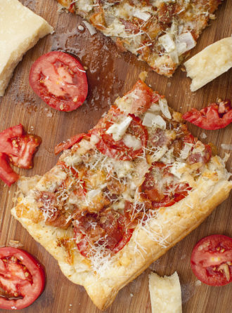 Bacon Tomato Parmesan Tart Recipe