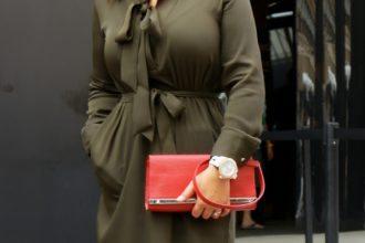 Attending New York Fashion Week entrance