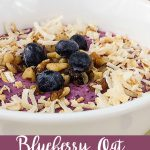 Blueberry Oat Coconut Smoothie Bowl