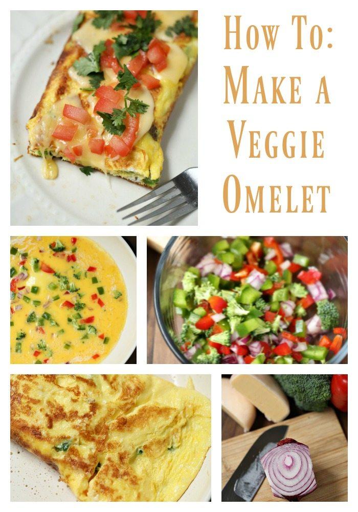 veggie stuffed omelet recipe