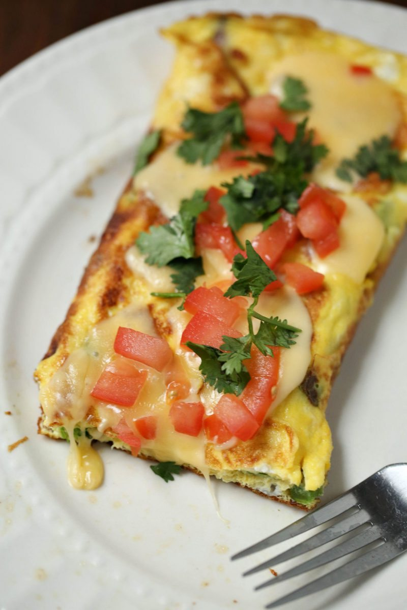 Veggie Stuffed Omelet Recipe and How To Video