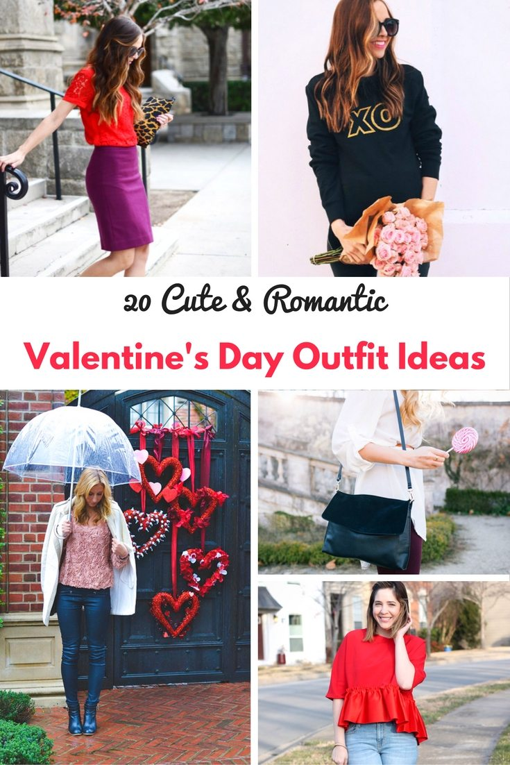Cute Romantic Valentines Day Outfit Ideas