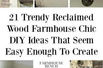 21 Trendy Reclaimed Wood Farmhouse Chic DIY Ideas That Seem Easy Enough To Create