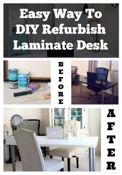 Easy Way to DIY Refurbish Shabby Chic Laminate Desk