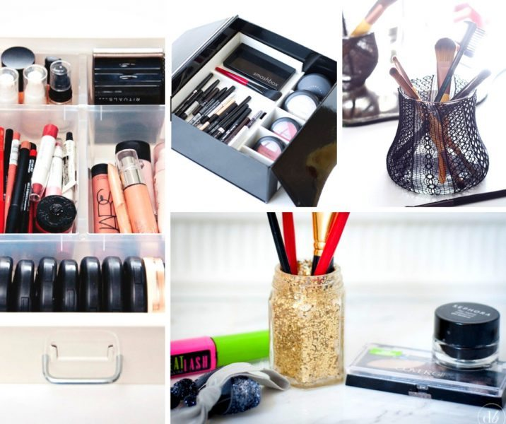 20 Easy Makeup Organization Ideas