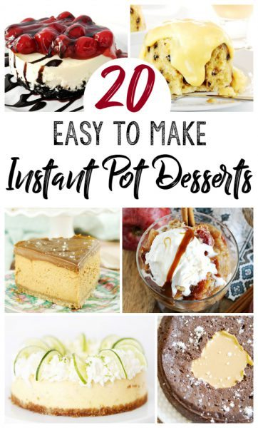 20 Instant Pot Desserts That Will Leave You With More Time