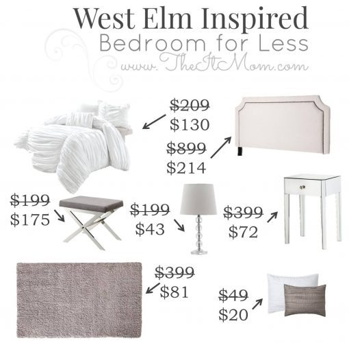 4.16 The It Mom West Elm Inspired Bedroom PRICES